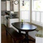 Снимка 27: Овална маса в вградената кухня