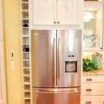 Снимка 18: Двуместен хладилник във вградената кухня Снимка