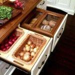 Снимка 10: Кутия за зеленчуци вградена кухня