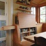 Снимка 4: Необичайни мебели в вградената кухня