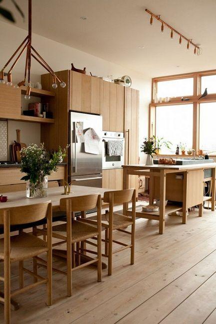 Дървена кухня в японски стил