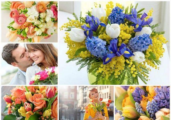 Пролетни букети на 8 март
