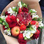 Снимка 62: Букет от плодове, цветя и плодове