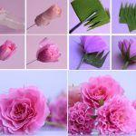 Снимка 64: Буйна роза, изработена от велпапе
