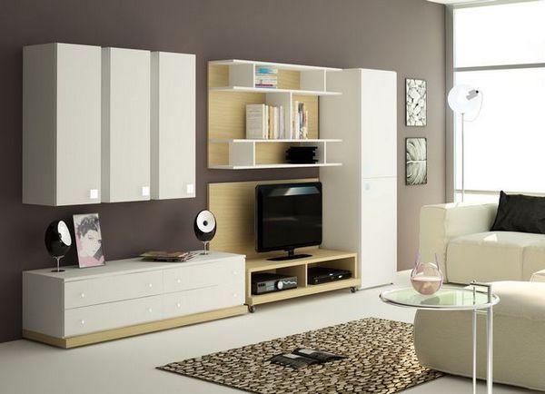 Изберете стена в хола в модерен стил