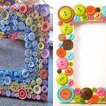 Снимка 51: Декориране на рамката с бутони