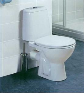 Тоалетна с изход паралелно на пода