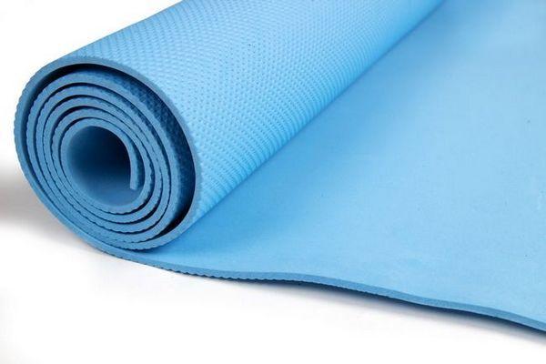 Синя мат за фитнес