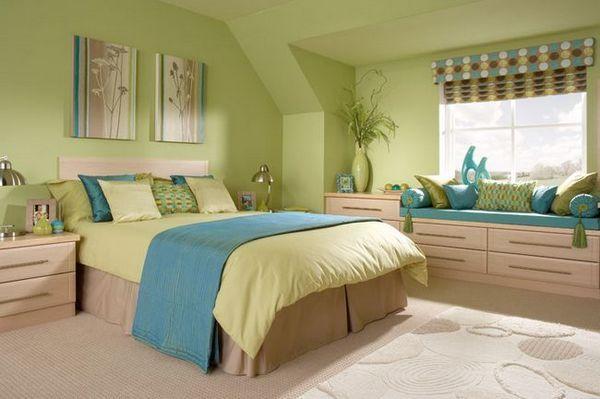 Дизайн на зелени спални