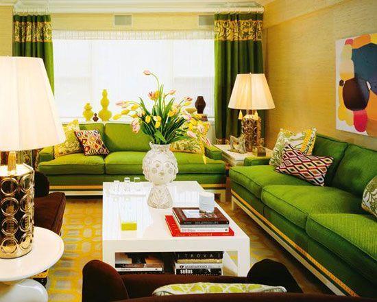 Зеленият цвят в интериора и хармонията