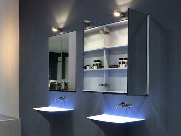 Огледало в банята със светлина 2
