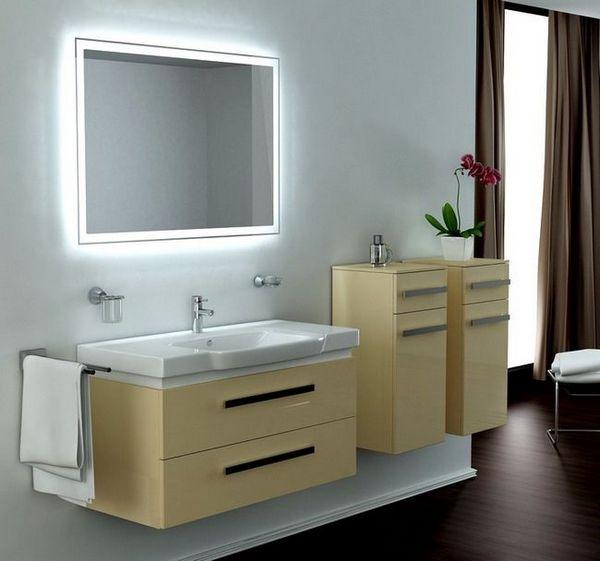 Огледало в баня с LED светлина