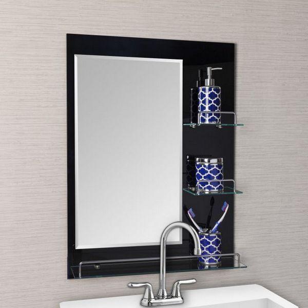 модерен рафт за баня с огледало