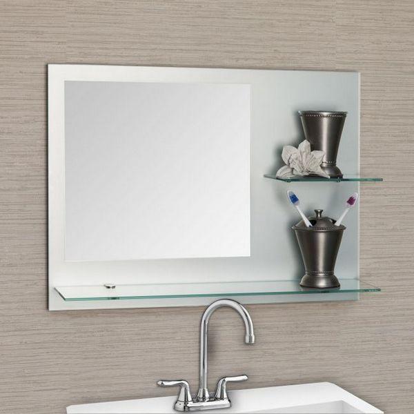 рафт за баня с огледало