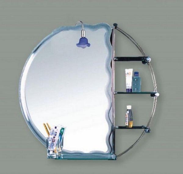 огледало с рафтове