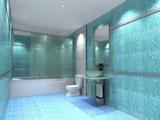 течен тапет в банята снимка